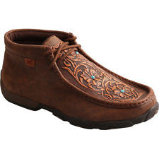7946a1a6ab1eb Twisted X Women's Driving Moccasins – Brown/Tooled Flowers-WDM0081 ...