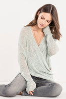 Miss Me Women's The Crossover Loose Knit Sweater