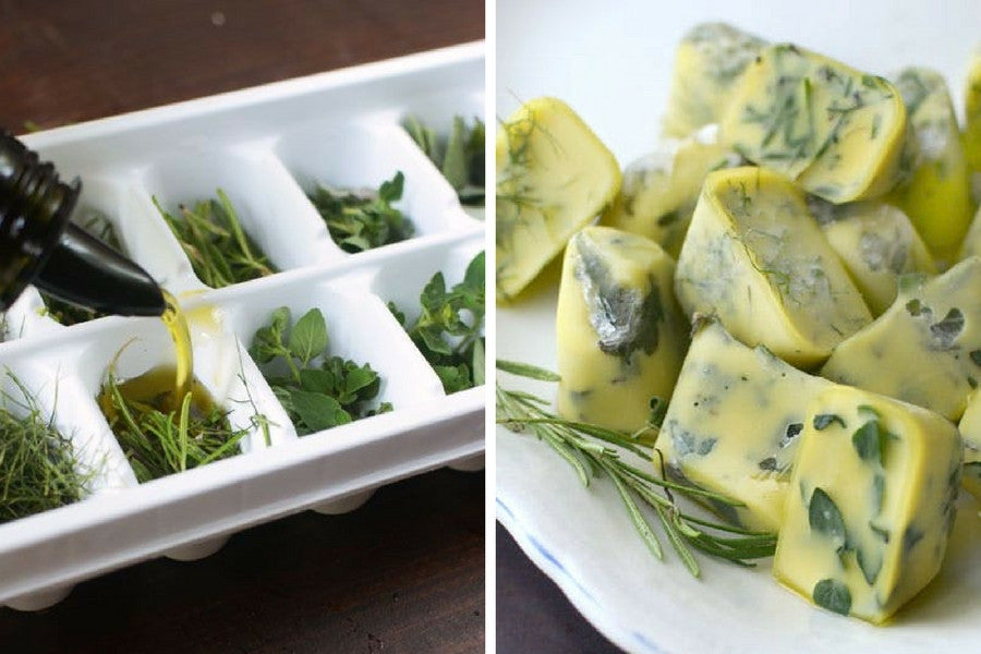 8 Clever Uses for Old Ice Trays | Preserve Herbs in Olive Oil for Easy and Delicious Cooking