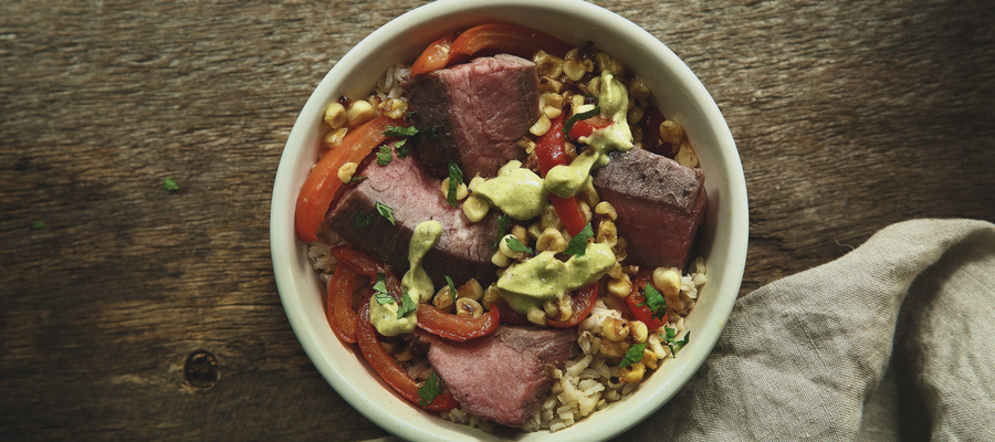 Top 10 Dinners in a Bowl | Flank Steak and Pepper Rice Bowl Meal Kit
