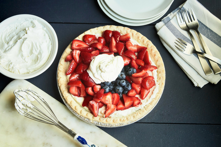 Mixed Berry Mascarpone Pie