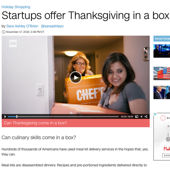 Startups offer Thanksgiving in a box