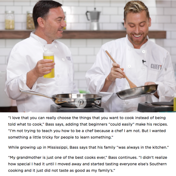 Lance Bass Is Breaking into the Food Industry: 'My Dream Is to Have My Own Cooking Show'