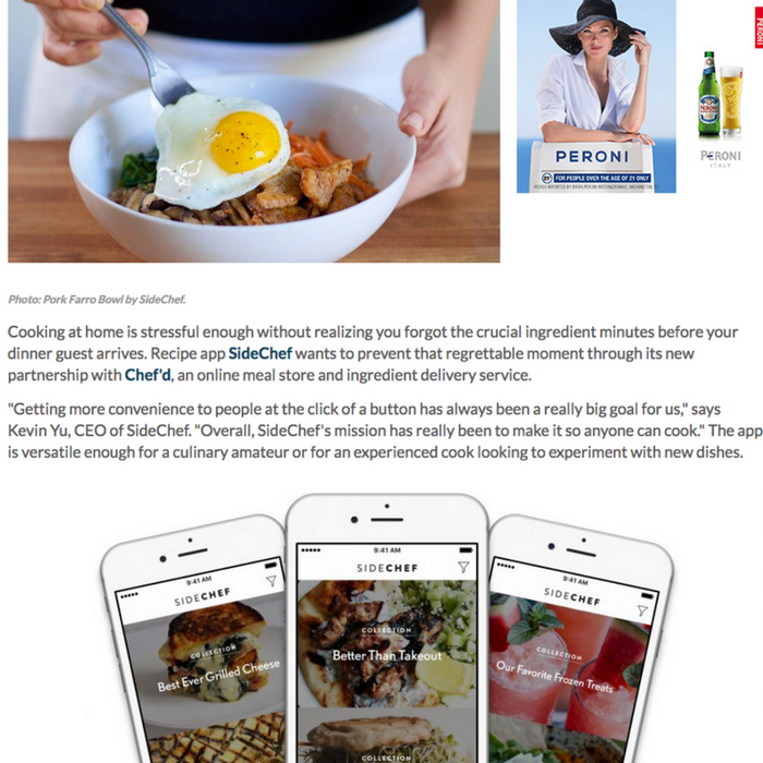 Recipe App Sidechef Now Delivers The Ingredients To You