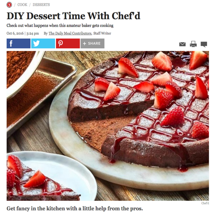 DIY Dessert Time With Chef'd