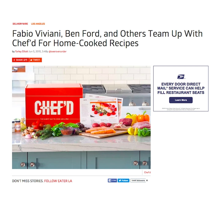 Fabio Viviani, Ben Ford, and Others Team Up With Chef'd For Home-Cooked Recipes
