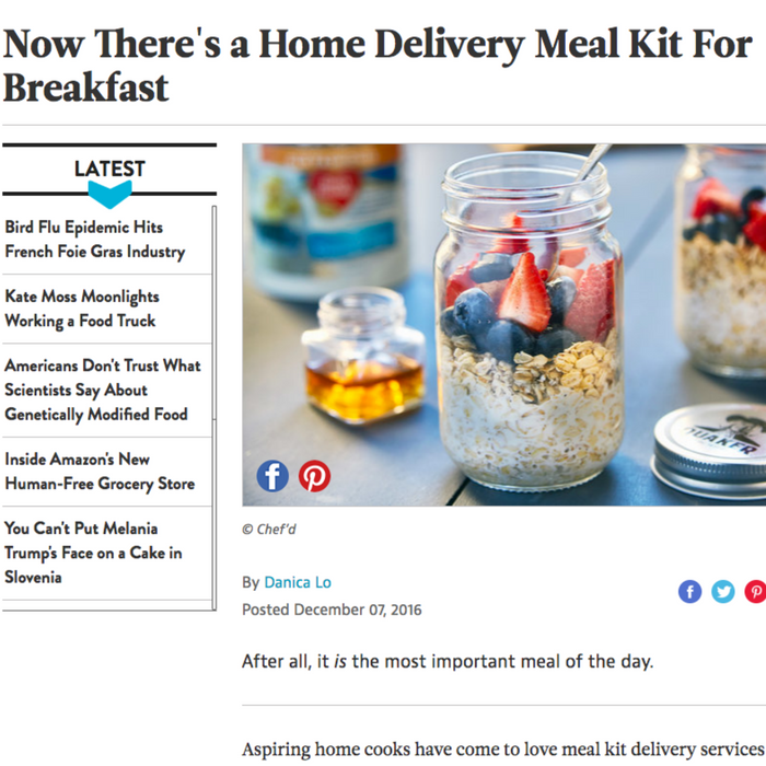 Now There's a Home Delivery Meal Kit For Breakfast