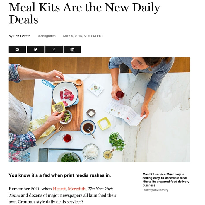Meal Kits Are the New Daily Deals