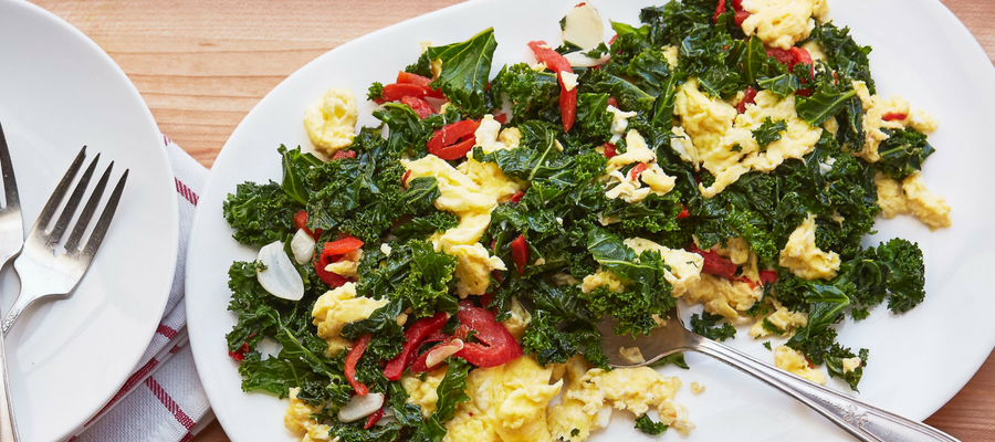 Kale Scramble with Garlic & Roasted Peppers Breakfast Meal Kit