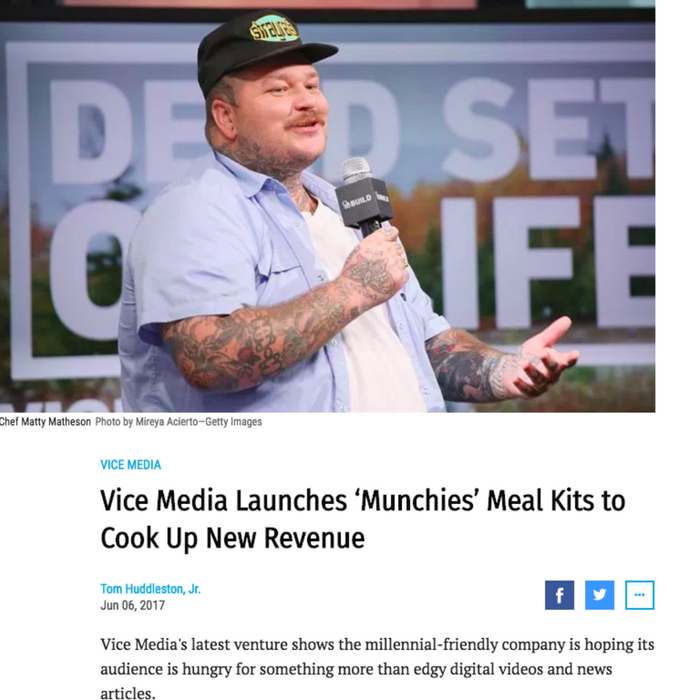 Vice Media Launches 'Munchies' Meal Kits to Cook Up New Revenue