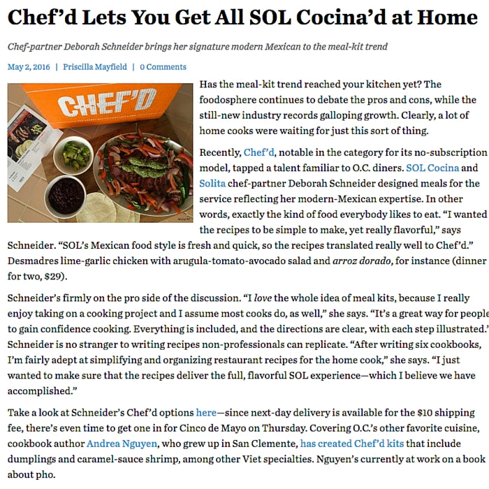 Chef'd Lets You Get All SOL Cocina'd at Home/