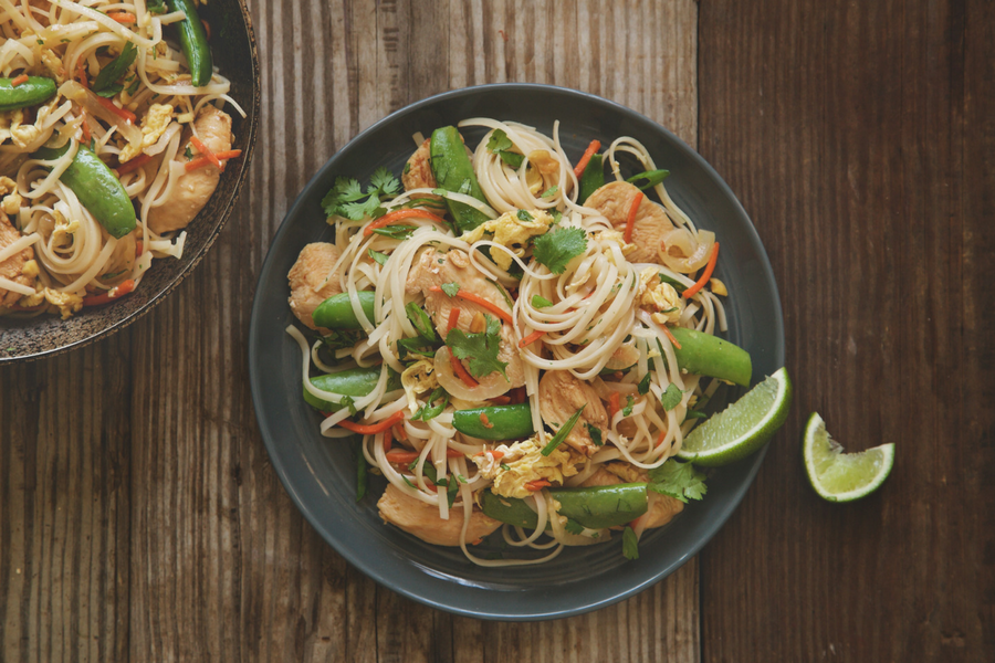 Weeknight Chicken Pad Thai