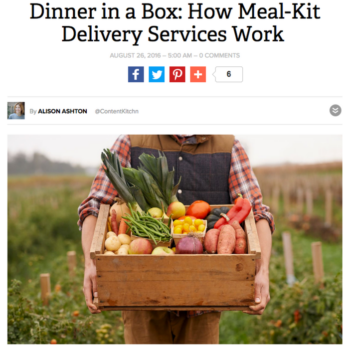 Dinner in a Box: How Meal-Kit Delivery Services Work