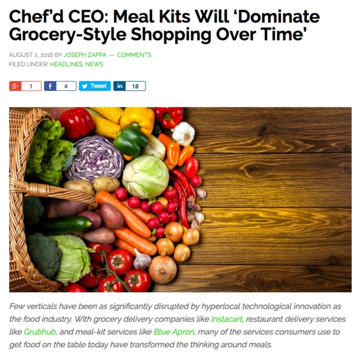 Chef'd CEO: Meal Kits Will 'Dominate Grocery-Style Shopping Over Time'