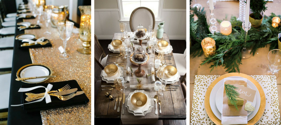 Holiday Glam Table Setting