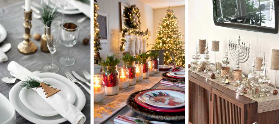 Holiday Theme Table Setting
