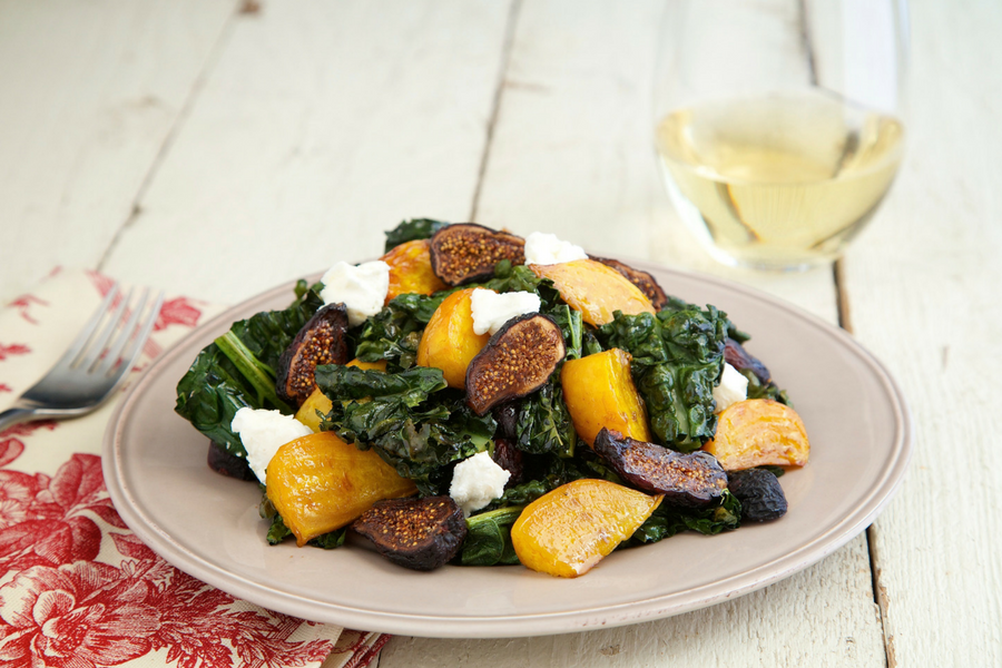 Roasted Kale & Beet Salad