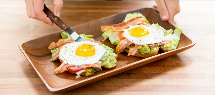 Open-faced BLT with Cajun Country Potatoes and Sausage Breakfast Meal Kits