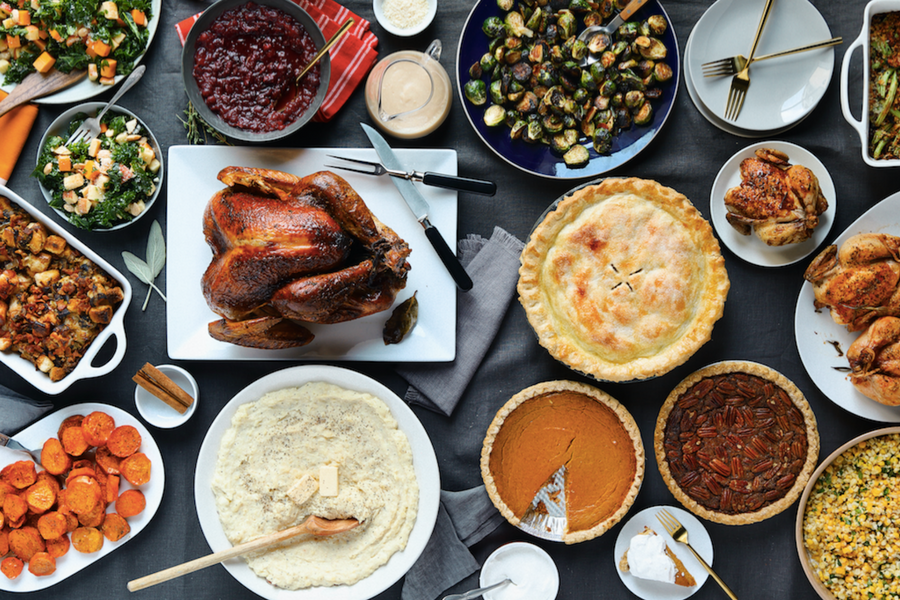 Thanksgiving Spread from NYT Cooking and Chef'd