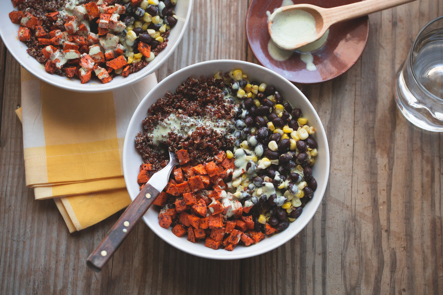 Sweet Potato & Black Bean Quinoa Bowl