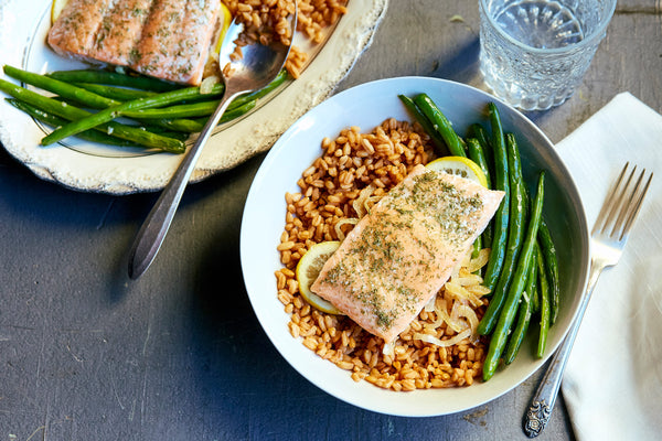 Succulent Salmon and Farro