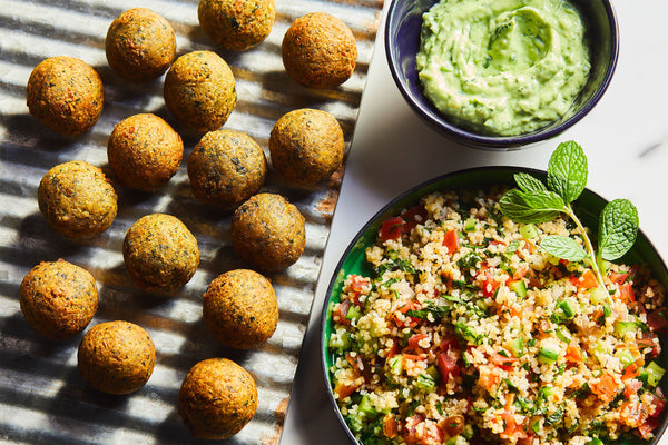 Fast Falafel with Date Tabbouleh