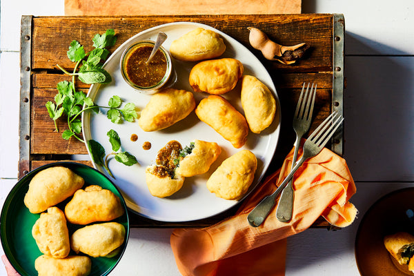 Spinach and Smoky Gouda Fried Dumplings