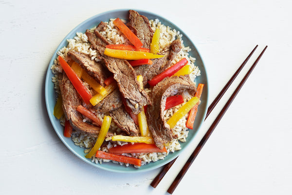 Sizzling Sesame Beef and Pepper Stir-Fry