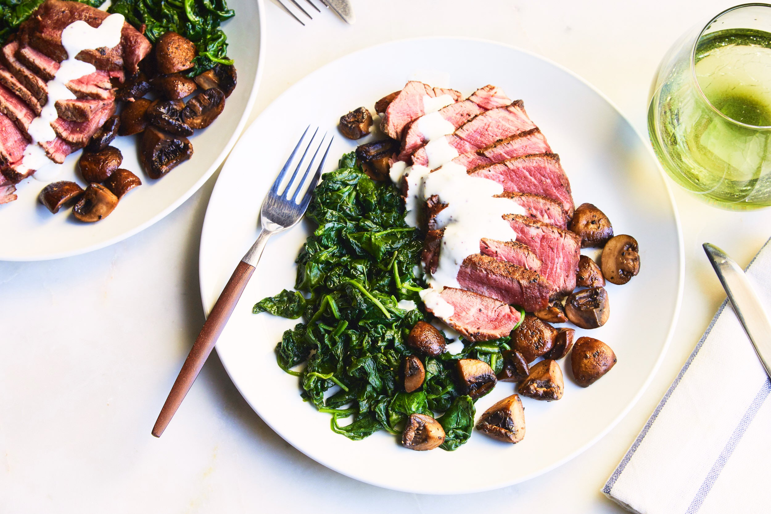 Beef Fillets, Mushrooms and Spinach