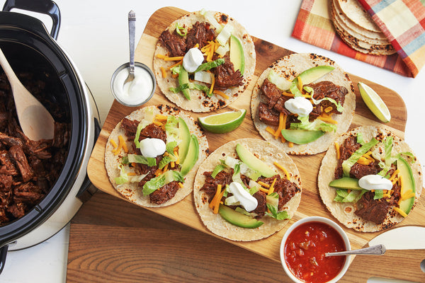 Slow Cooker Shredded Beef Taco