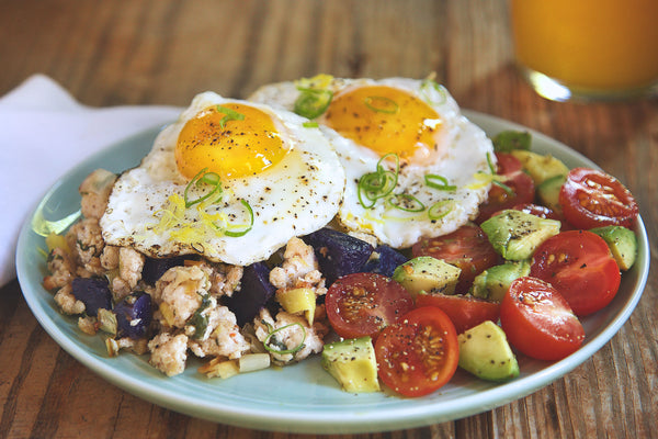 Sunny-Side Up Eggs and Turkey Hash