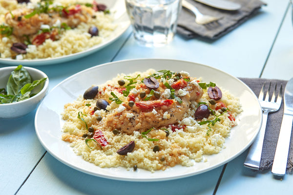 Pan-seared Mediterranean Chicken with Couscous