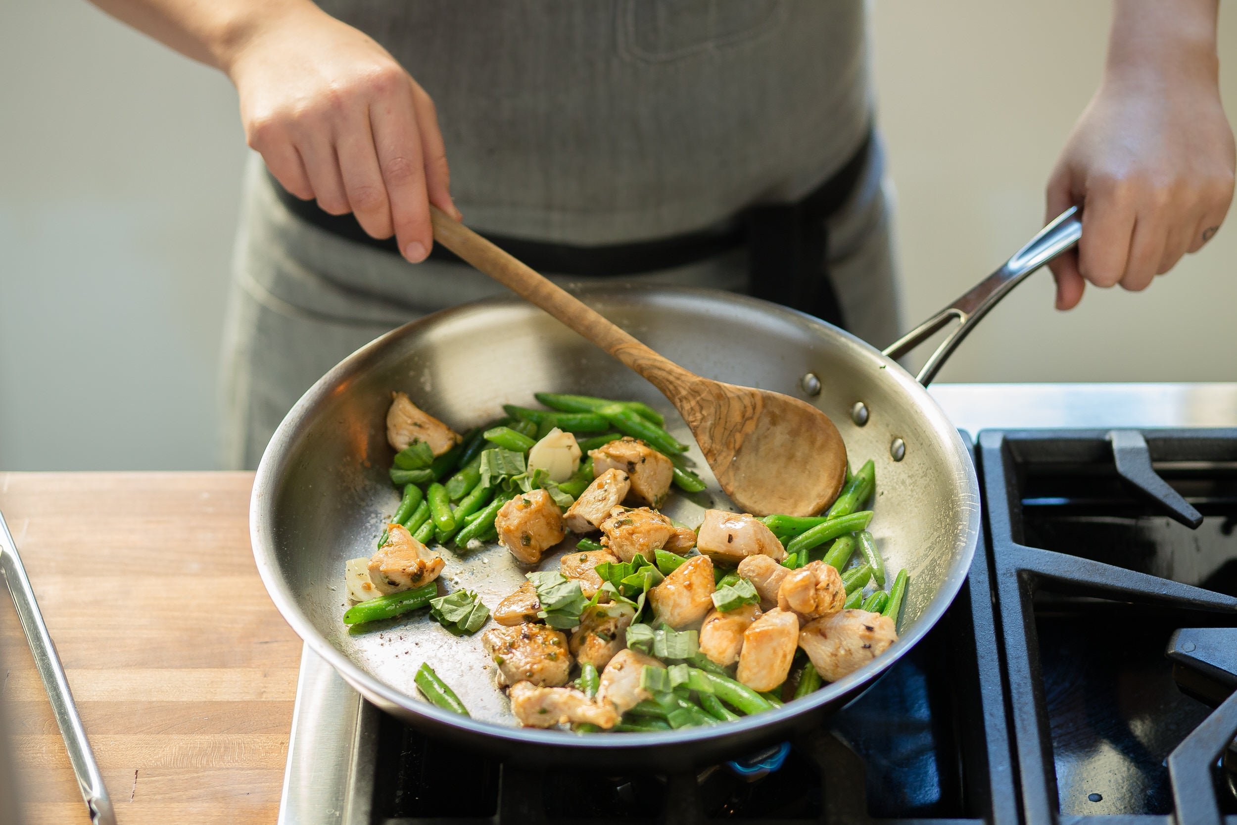 Basil Chili Chicken Stir-Fry
