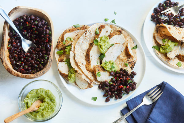 Char Chicken with Black Bean Salad