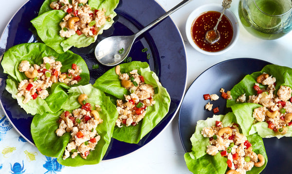 Asian Honey Chicken Cashew Lettuce Cups