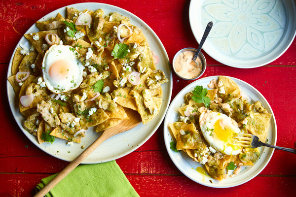 Chilaquiles Verdes with Chipotle Chicken