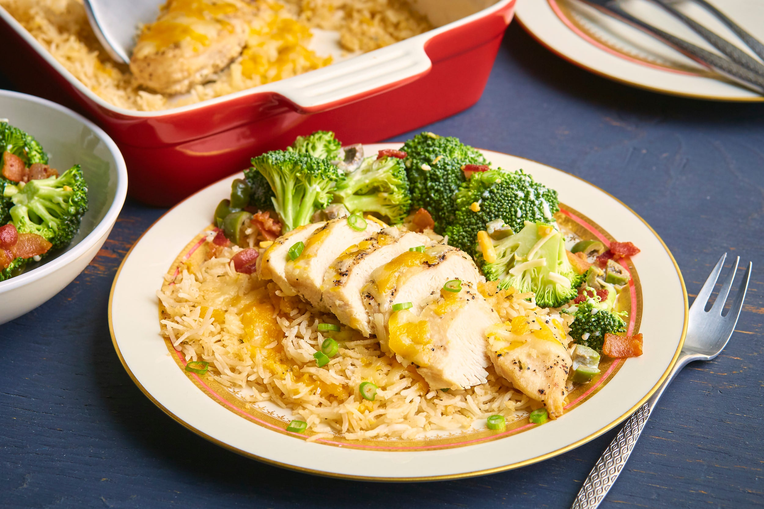 Baked Chicken and Creamy Rice Casserole