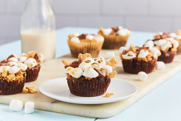 S'mores Brownie Cupcakes