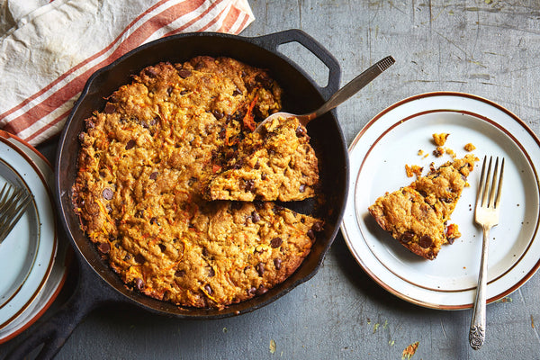 Carrot Cake Skillet Blondies