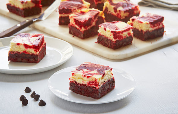 Red Velvet Cream Cheese Squares