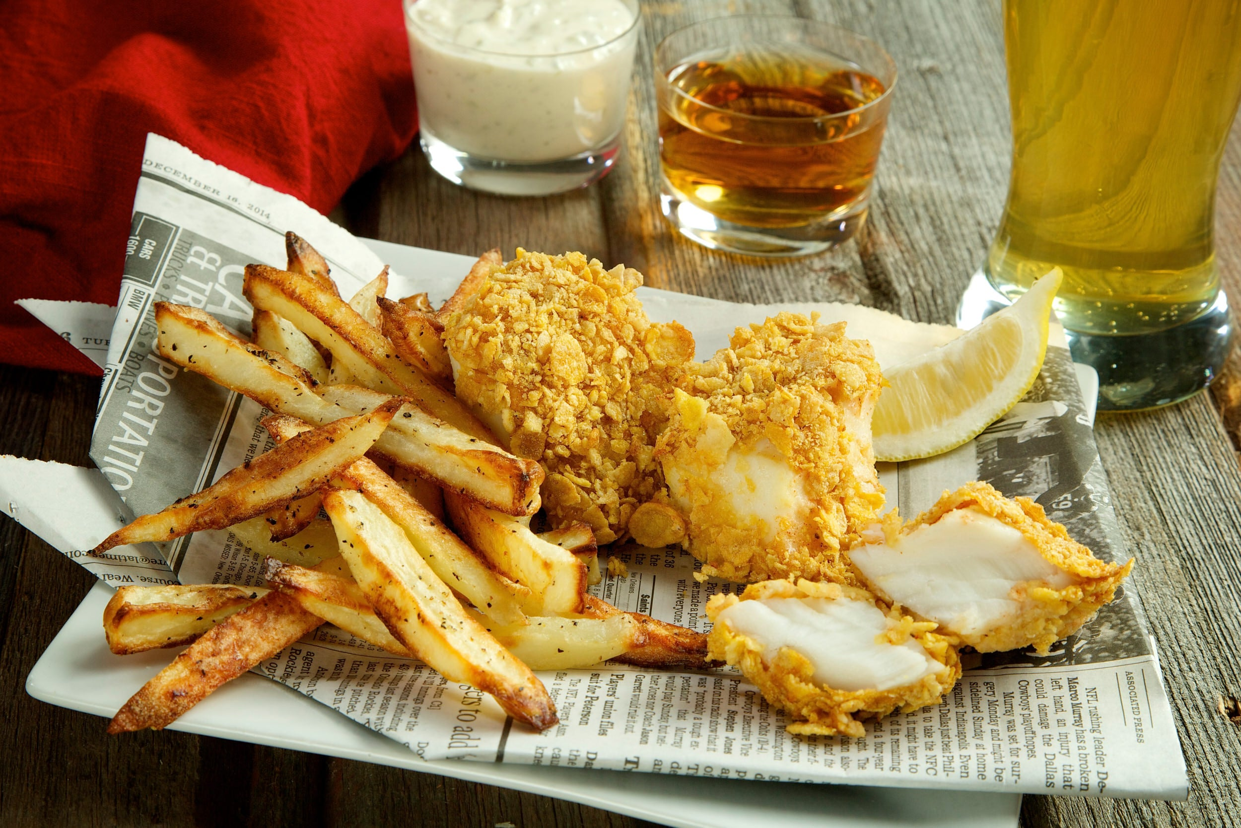 Baked fish and chips for Baked fish and chips