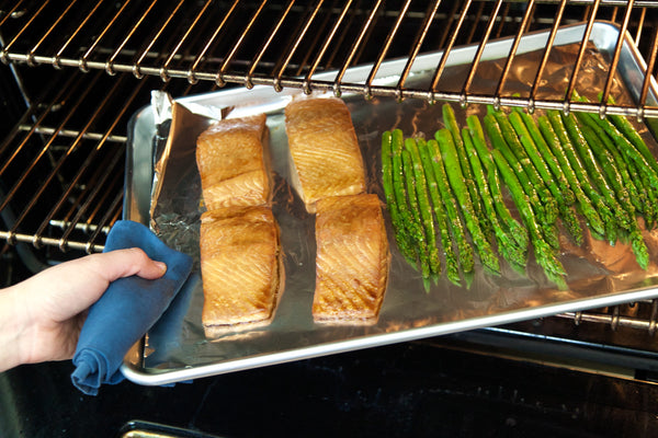 Dijon Salmon and Roasted Asparagus
