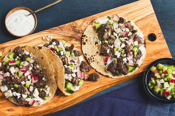 Greek Lamb Tacos
