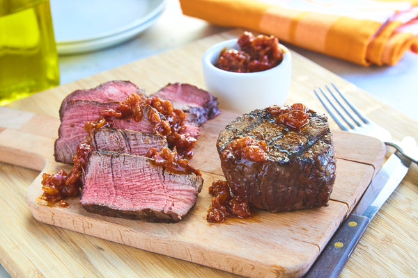Beef Fillet with Bacon Jam