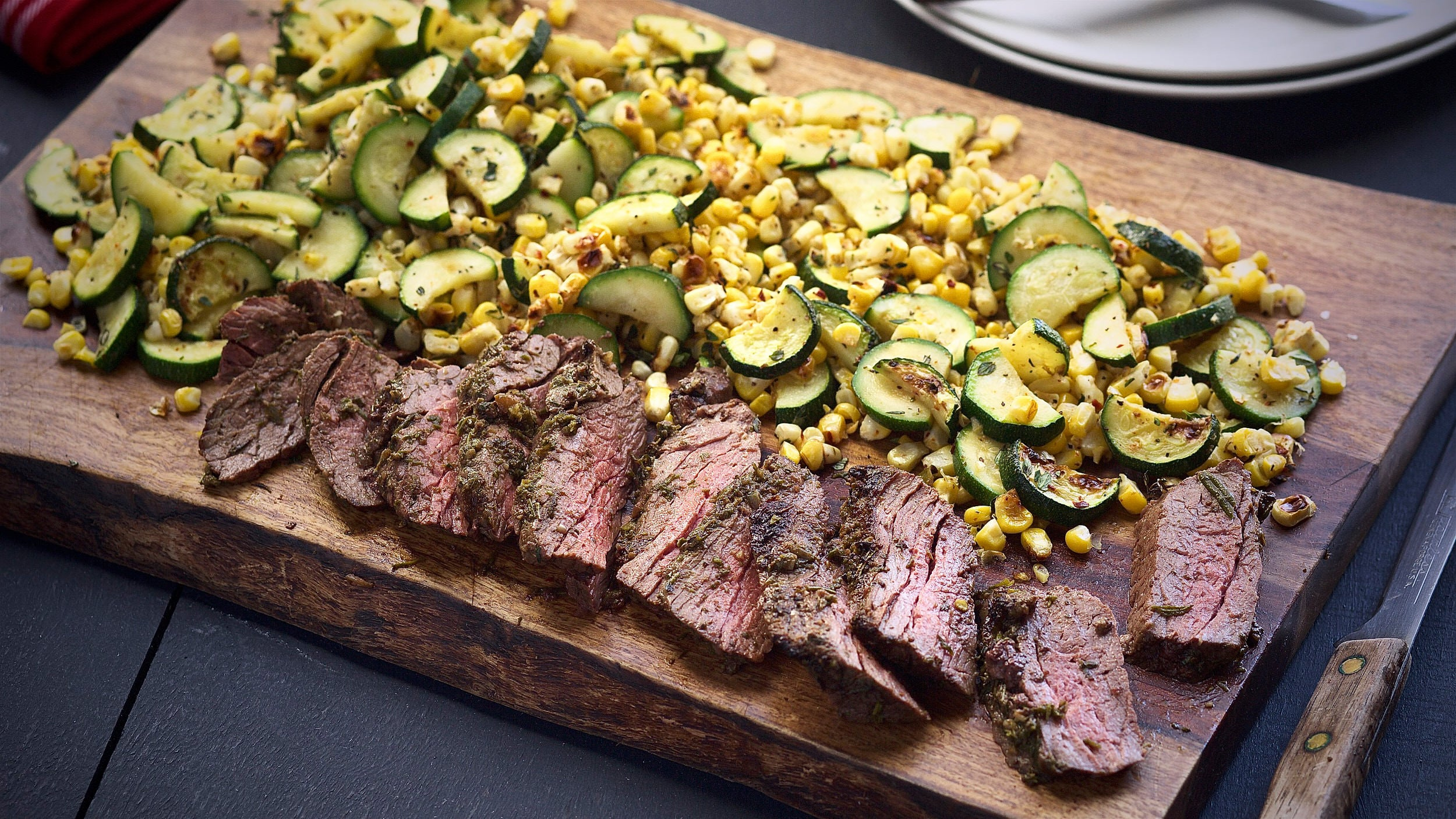 Roasted Garlic Herb Steak