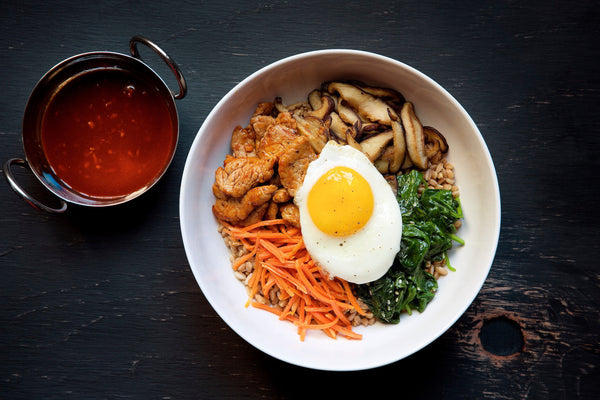 Spicy Korean Pork Farro Bowl