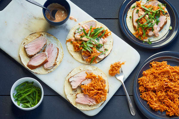 Chipotle Pork with Sweet Potato Tacos