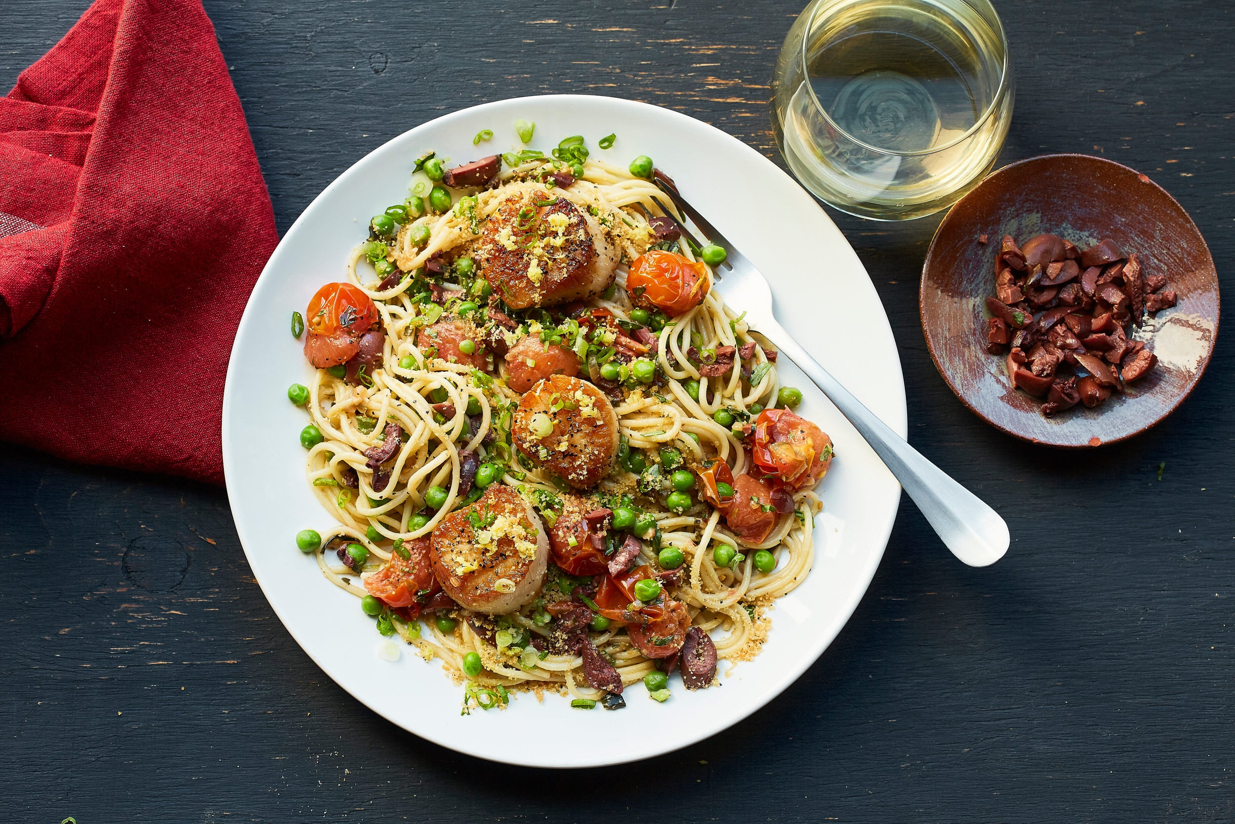 Scallops with Spaghetti