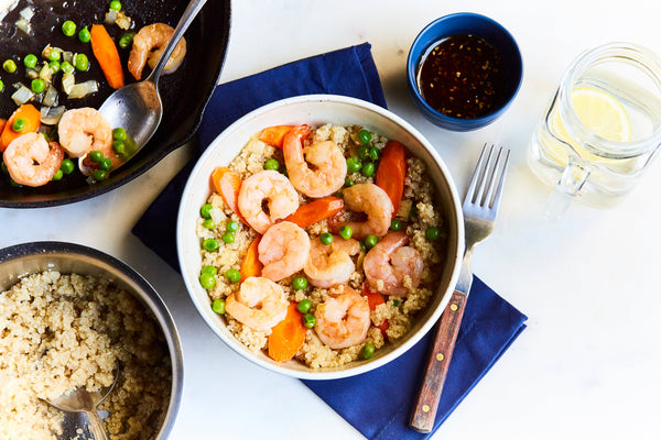Sweet Shrimp and Vegetable Quinoa Bowl