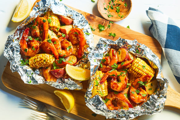BBQ Shrimp and Andouille Bake